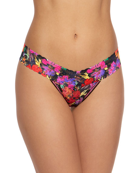 Hanky Panky Floral Lace Low-Rise Thong