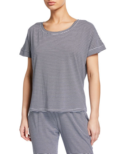 Striped Cotton Lounge Top