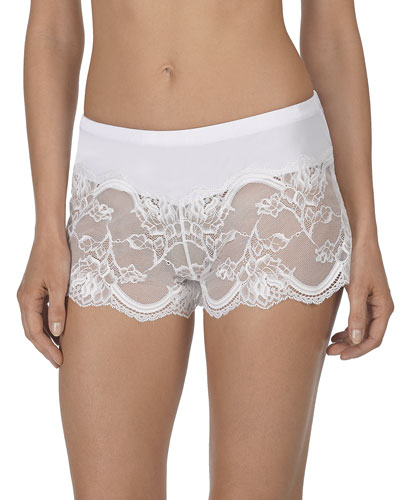 Vow Floral-Lace Tap Shorts