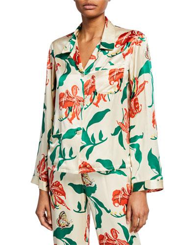Ruthie Floral-Print Pajama Top