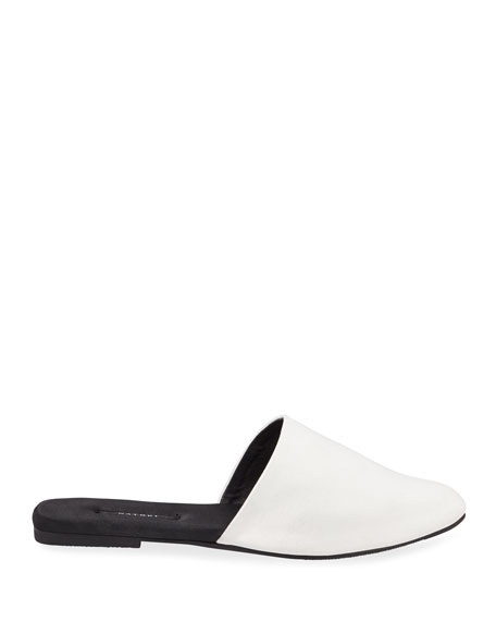 Solid Satin Mule Slippers