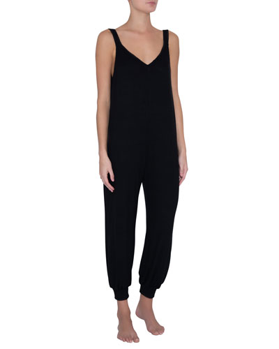 Elon Bound V-Neck Jersey Jumpsuit