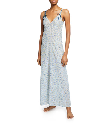 Hester Graphic-Pattern Long Nightgown