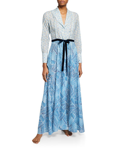 Hester Graphic-Pattern Long Robe