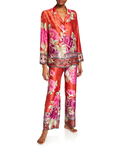 Fusion Notch Satin Pajama Set