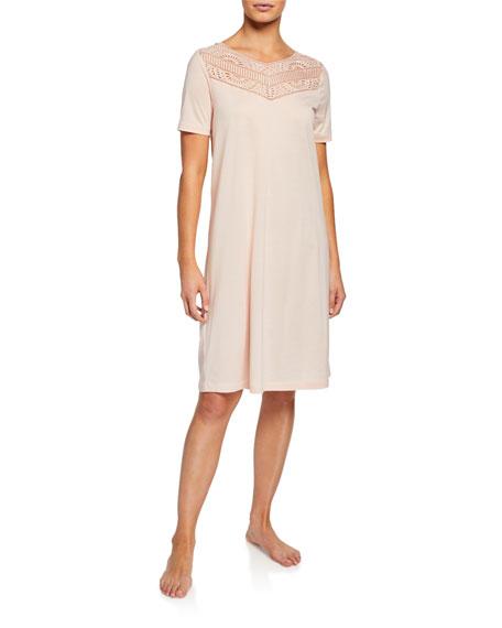 Malene Lace-Yoke Nightgown
