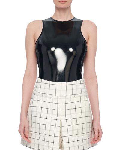 Tech Patent Sleeveless Bodysuit