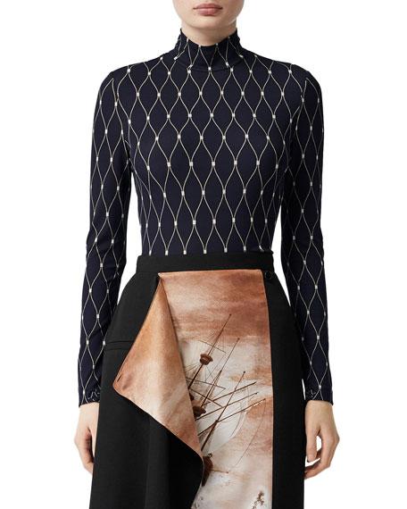 Printed Long-Sleeve Bodysuit