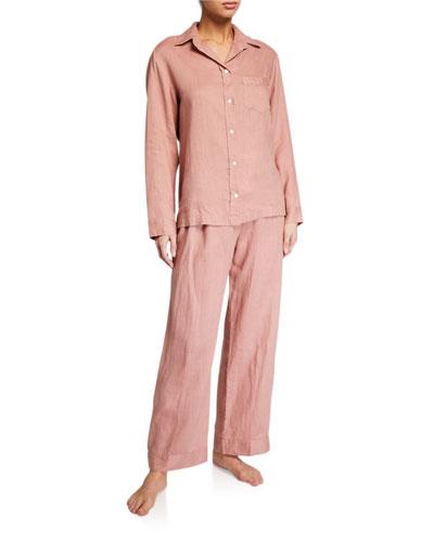 Linen Classic Pajama Set