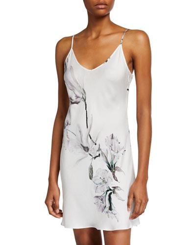 Serenity Floral-Print Silk Chemise