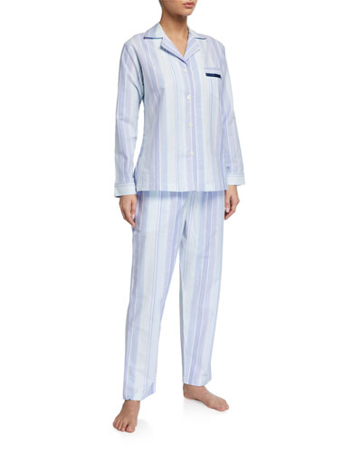 Striped Knit Pajama Set