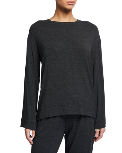 Lily Long-Sleeve Jersey Lounge Top