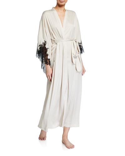 L'Amour Lace-Trim Robe