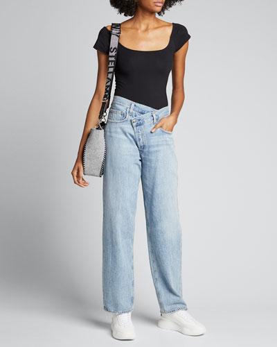 Nadia Cap-Sleeve Bodysuit