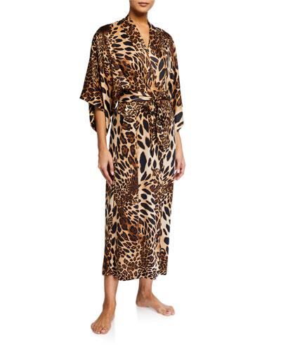 Luxe Leopard Long Robe