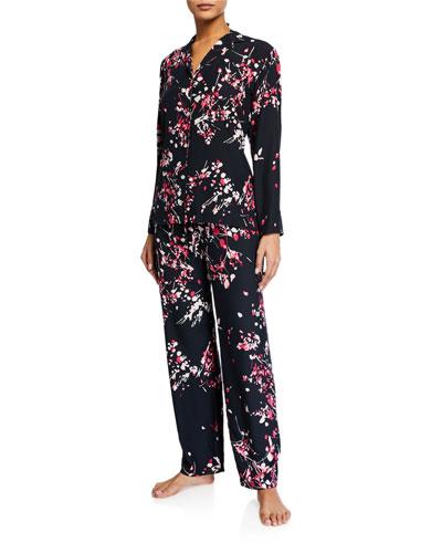 Matsuri Floral-Print Classic Pajama Set