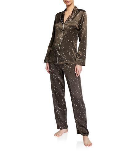 Orion Dot-Pattern Silk Pajama Set