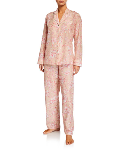 Florentine Silk-Blend Pajama Set