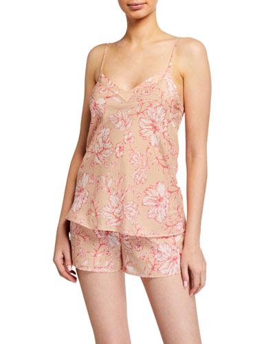 Florentine Floral-Print Silk-Blend Camisole