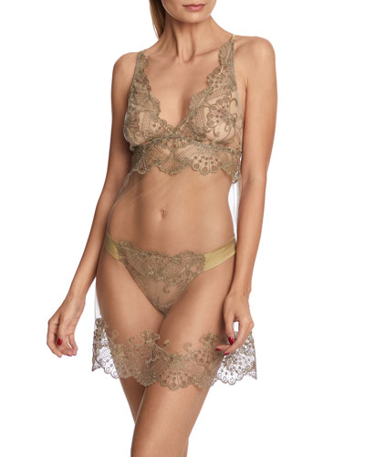 Rosam Embroidered Tulle Chemise