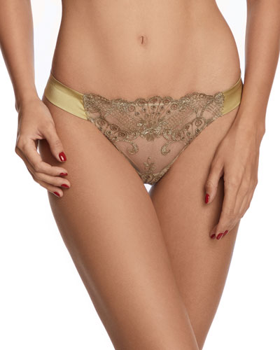 Rosam Embroidered Tulle Thong