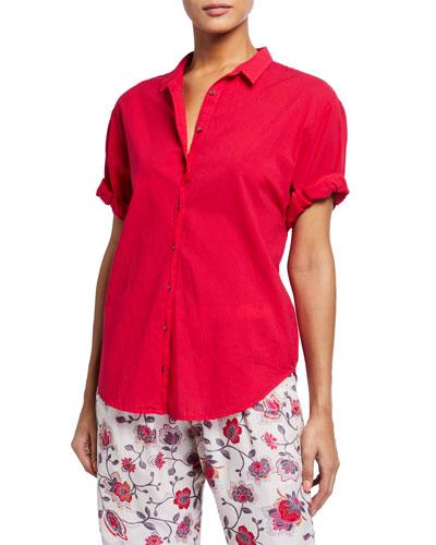 Channing Solid Poplin PJ Shirt