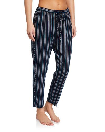 Kalvyn Metallic Striped Lounge Pants