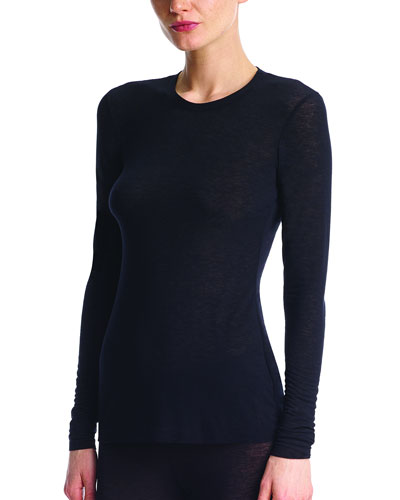 Cashmere Layering Long-Sleeve T-Shirt