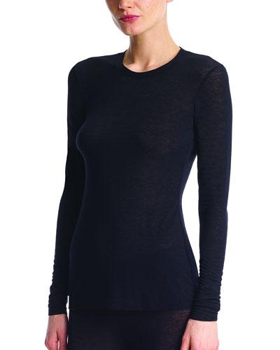 Cashmere Layering Long-Sleeve T-Shirt