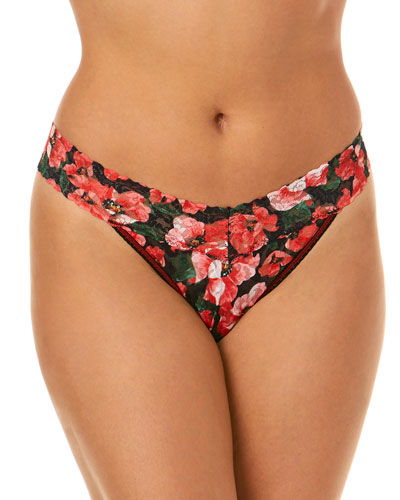 Original-Rise Thong - Pretty Poppies