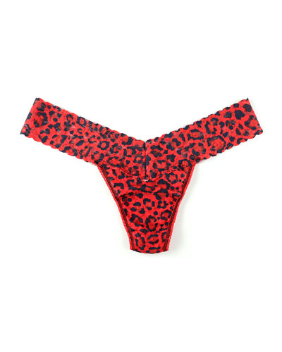 Low-Rise Leopard-Print Thong