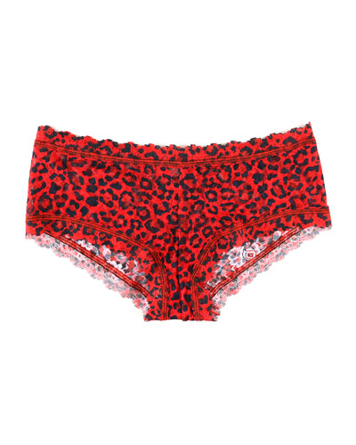 Leopard-Print Lace Boyshorts