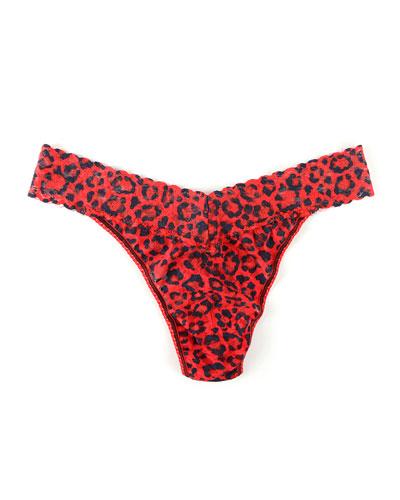 Original-Rise Leopard-Print Thong