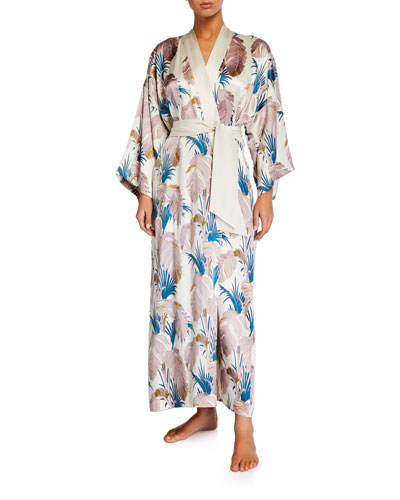 Queenie Pandora Long Silk Robe