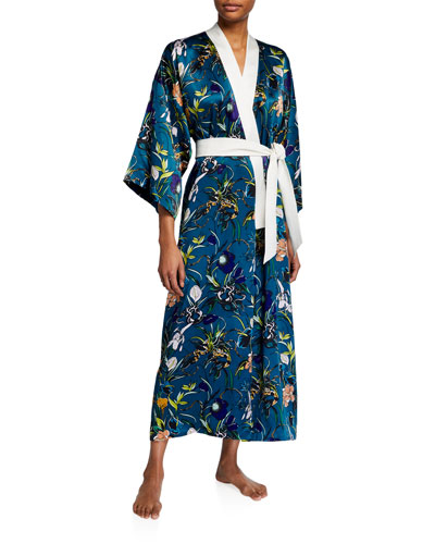 Queenie Heaven Long Silk Robe