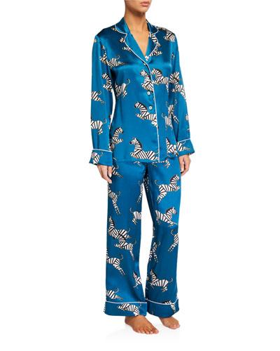 Lila Zoda Classic Silk Pajama Set