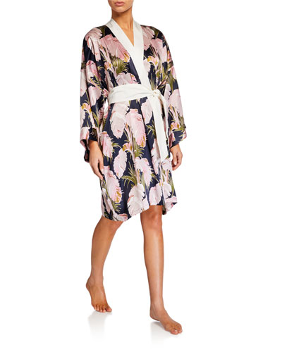 Mimi Phaedra Short Silk Robe