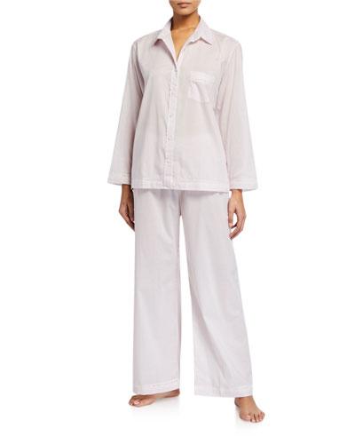 Lace-Trim Cotton Lawn Pajama Set