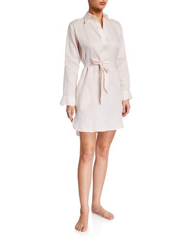 Linen Lounge Shirt Dress