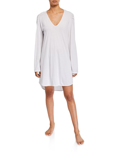 Eva V-Neck Long-Sleeve Sleepshirt