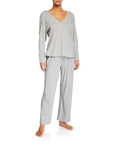 Elena Heathered Pajama Top