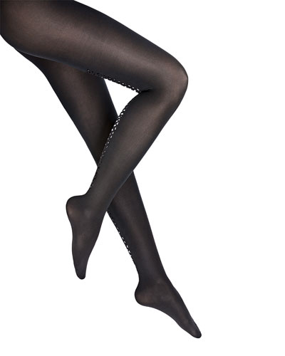 Snake Shimmer Backseam Tights