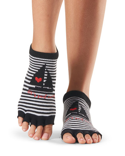 Grip Half-Toe Low Rise Loveboat Grip Socks