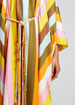 Striped Silk Belted Caftan