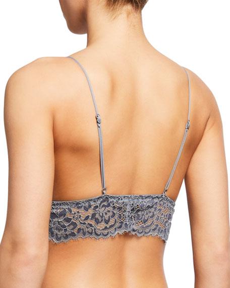 Pret A Porter Long-Line Lace Triangle Bralette