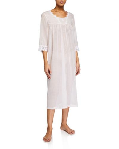 Sabrina 3/4-Sleeve Nightgown