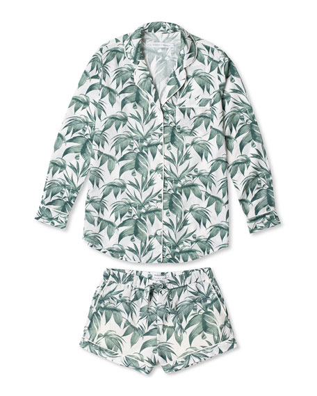 Image 1 of 1: Byron Signature Long-Sleeve Short Pajama Set