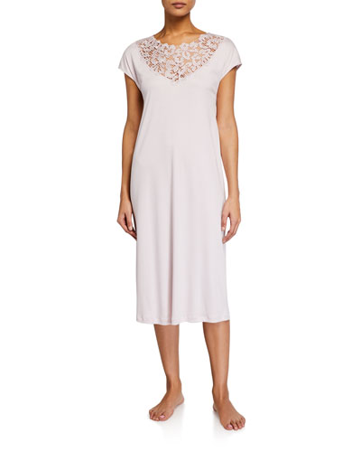 Najuma Lace-Yoke Nightgown