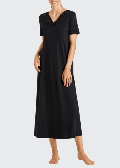 Moments Short-Sleeve Long Nightgown