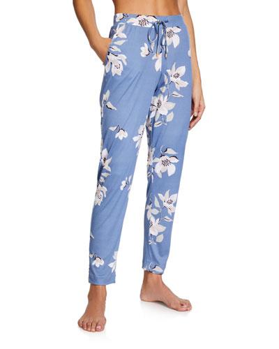 Lisha Floral-Print Long Pants